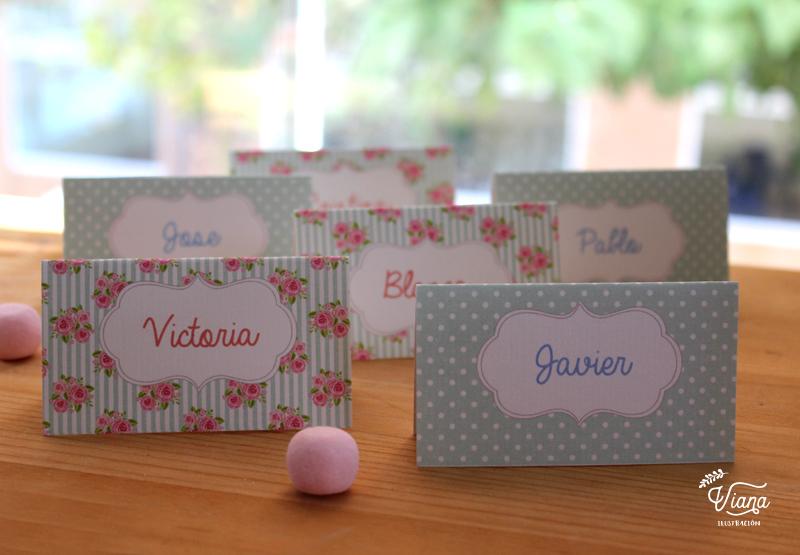 Carteles para nombres.