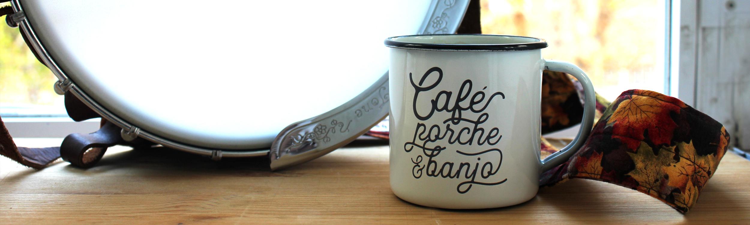 Café, porche y banjo