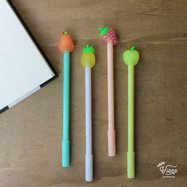 Bolígrafos frutas