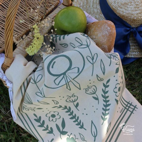 Paño de cocina Ana de las Tejas Verdes