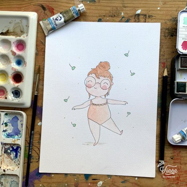 Acuarela Bailarina